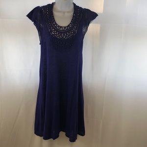 BCBG MAXAZRIA PURPLE KNIT SMALL DRESS